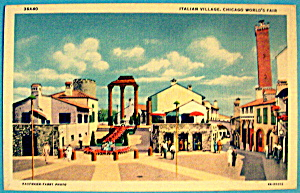 Italian Village Postcard (1933 Century Of Progress) (Image1)