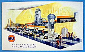 1933 Century of Progress, Gulf Exhibit Postcard (Image1)