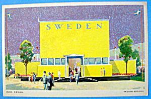 Swedish Building Postcard (1933 Century Of Progress) (Image1)