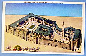 1933 Century Of Progress, The English Village Postcard (Image1)
