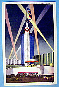 Hall Of Science Postcard (Century Of Progress) (Image1)