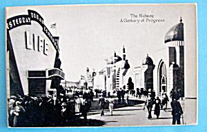 1933 Century of Progress, The Midway Postcard (Image1)