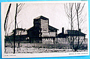 Postcard Of Replica of Fort Dearborn (Chicago Fair) (Image1)