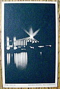 Electrical Building Full Illumination Postcard (Fair) (Image1)
