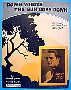 1928 Down Where The Sun Goes Down (Verne Buck Cover)