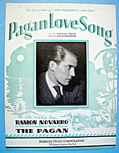Sheet Music For 1929 Pagan Love Song