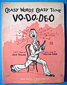 Sheet Music For 1927 Crazy Words Crazy Tune Vo Do De O (Image1)