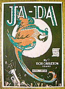 Sheet Music For 1918 Ja-Da By Bob Carleton (Image1)