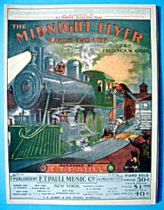 Sheet Music For 1903 The Midnight Flyer