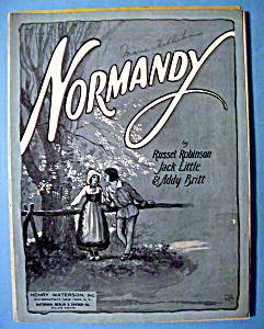 Sheet Music For 1925 Normandy