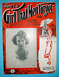 Sheet Music For 1923 Just A Girl That Men Forget Ballad (Image1)