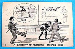 1933 Century of Progress, Windy City Postcard (Image1)