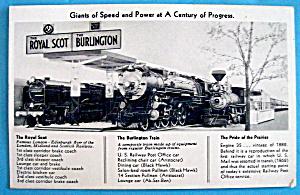 1933 Century of Progress, The Royal Scot Postcard (Image1)