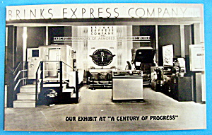 1933 Century of Progress, Brinks Express Co. Postcard (Image1)