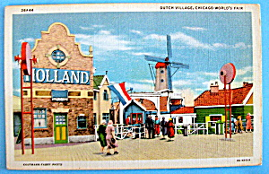 Dutch Village Postcard (Chicago World's Fair) (Image1)