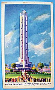 Havoline Thermometer Postcard (Chicago World's Fair) (Image1)