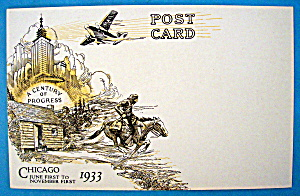 1933 Century of Progress, June 1 to November 1 Postcard (Image1)