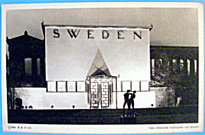 Swedish Pavilion Postcard (1933 Century Of Progress) (Image1)