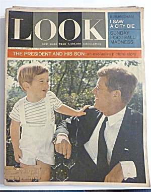 Look Magazine-December 3, 1963-President & His Son (Image1)