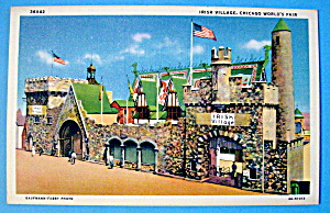 Irish Village Postcard (1933 Century Of Progress) (Image1)