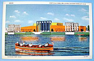 1933 Century of Progress, Horticultural Bldg Postcard (Image1)