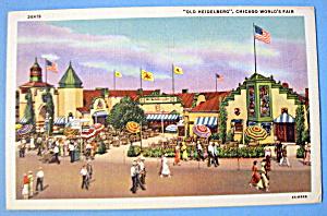 1933 Century of Progress, Old Heidelberg Postcard (Image1)