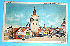 1933 Century of Progress, Midget City Postcard (Image1)