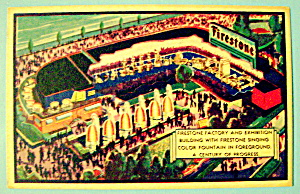 Firestone Factory & Exhibition Postcard (Chicago Fair) (Image1)