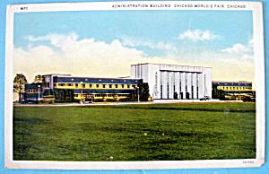 1933 Century of Progress, Administration Bldg Postcard (Image1)