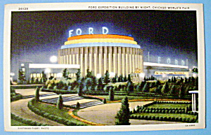 1933 Century of Progress, Ford Building Postcard (Image1)