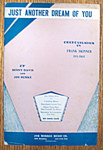 Sheet Music For 1932 Just Another Dream Of You (Image1)