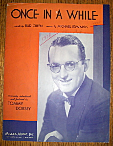 Sheet Music For 1937 Once In A While (Tommy Dorsey)