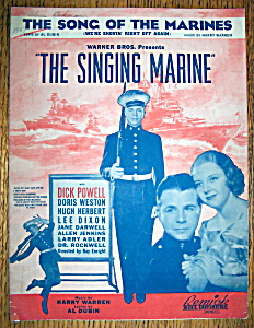 Sheet Music For 1937 The Song Of The Marines