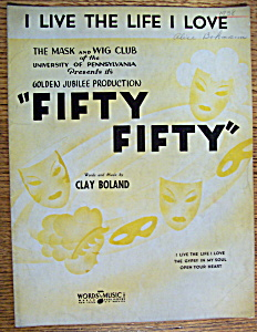 Sheet Music For 1938 I Live The Life I Love