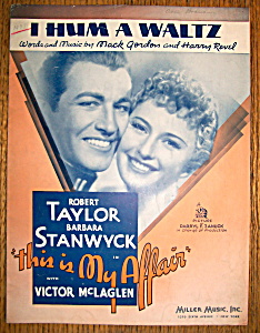 Sheet Music For 1937 I Hum A Waltz