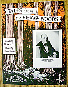 Sheet Music For 1939 Tales From The Vienna Woods