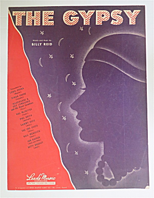 Sheet Music For 1946 The Gypsy By Billy Reid
