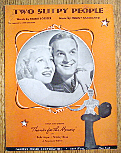 Sheet Music For 1938 Two Sleepy People