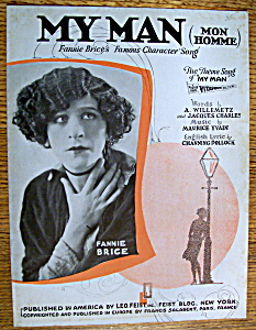 Sheet Music For 1921 My Man (Mon Homme)