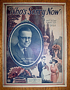 Sheet Music For 1923 Who's Sorry Now