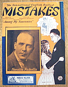 Sheet Music For 1929 Mistakes