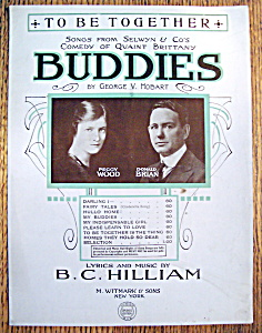 Sheet Music For 1919 To Be Together