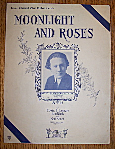 Sheet Music For 1925 Moonlight And Roses