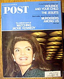 Saturday Evening Post Magazine-Mar 11, 1967-J. Kennedy (Image1)