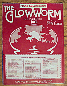 Sheet Music For 1930 The Glow-worm