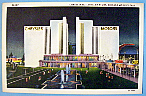 1933 Century of Progress, Chrysler Building Postcard (Image1)