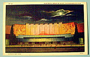 Electrical Group By Night Postcard (Chicago Fair) (Image1)