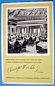 1933 Century of Progress, Men's Grill Postcard (Image1)