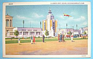 Postcard Of Illinois Host House (Chicago World Fair) (Image1)