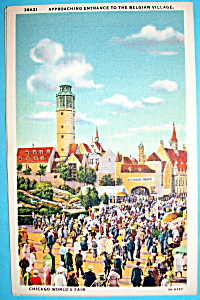 Belgian Village Postcard (Chicago World's Fair) (Image1)